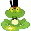 Stock Photo: Frog Groom On Lilypad
