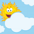 Happy Sun Behind A Cloud — Stock Photo #7276609