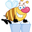 Worker Bee Carrying Two Buckets — Stock Photo