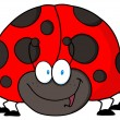 Friendly Ladybug — Stock Photo