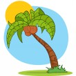 Cartoon Palm Three — Foto de stock #7276976
