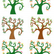 Set Of Abstract Cartoon Tree — Stock Photo
