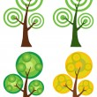 Collage Of Circle Trees — Stock Photo