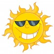 Cool Sun Wearing Shades — Stock Photo
