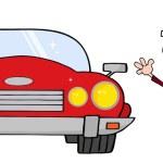 Постер, плакат: Businessman And Convertible Car