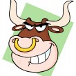 Bull With Nose Ring — Stock Photo