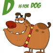 Bulldog Under D Is For Dog — Stock Photo