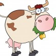 Farm Dairy Cow Cartoon Character — Stock Photo