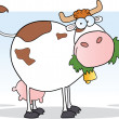 Dairy Cow Cartoon Character — Stock Photo