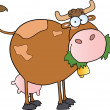 Farm Dairy Cow Cartoon Character — Stock Photo #7277436