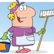 Cleaning Lady — Stockfoto