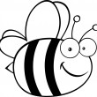 Black And White Bee — Stock Photo