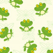 Seamless Pattern Happy Frog — Stock Photo