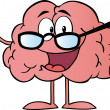 Brain Cartoon Character Giving The Thumbs Up — Stock Photo