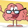 Royalty-Free Stock Photo: Cartoon Brain Giving The Thumbs Up