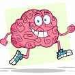 Running Brain — Stock Photo
