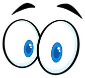 Cartoon Funny Eyes — Stock Photo