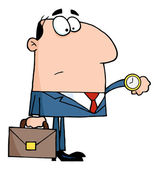 Office Worker Watching The Clock — Stock Photo