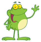 Waving Frog — Stock Photo