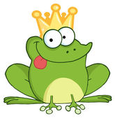 Frog Prince Cartoon Character — Stock Photo