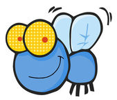 Happy Blue Fly — Stock Photo