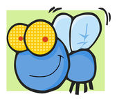 Fly Cartoon Mascot Character — Stock Photo