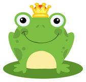 Happy Frog Prince — Stock Photo