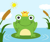 Frog Prince On A Pond — Stock Photo