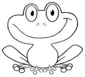 Delineato rana sorridente — Foto Stock