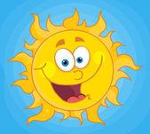 Happy Sun Mascot Cartoon Character — Stock Photo