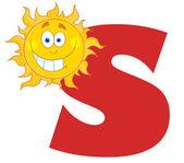 太阳与字母 s — 图库照片