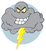 Evil Electrical Storm Cloud — Stock Photo