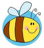 Flying Bee Character — Stock Photo