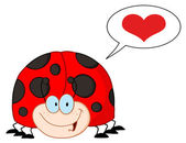Infatuated Ladybug — Stock Photo