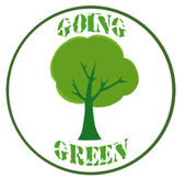 Green Tree Banner — Stock Photo