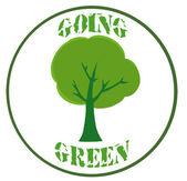 Green Tree Banner — Stock Photo