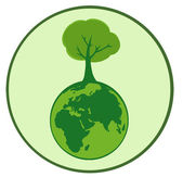 Organic Tree Globe — Stock Photo