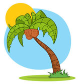 Cartoon Palm Three — Stock Photo