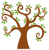Curly Branched Tree — Stock Photo