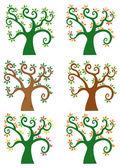 Conjunto de árbol abstracto de la historieta — Foto de Stock