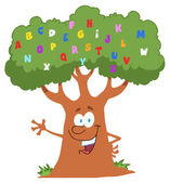Friendly Alphabet Tree Waving — Stock Photo