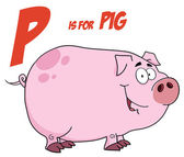 Piggy Under P Is For Pig — Stock Photo
