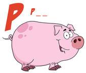 P 在小猪是猪 — 图库照片