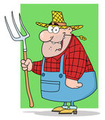 Homem feliz fazendeiro — Foto Stock