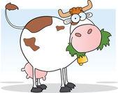 Dairy Cow Cartoon Character — Stock Photo