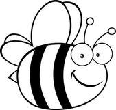 Zwart-wit bee — Stockfoto