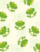 Seamless Pattern Happy Frog — Stock Photo