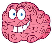 Brain Character Smiling — Stock Photo
