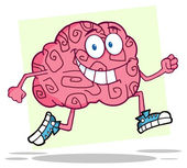 Running Brain — Stockfoto