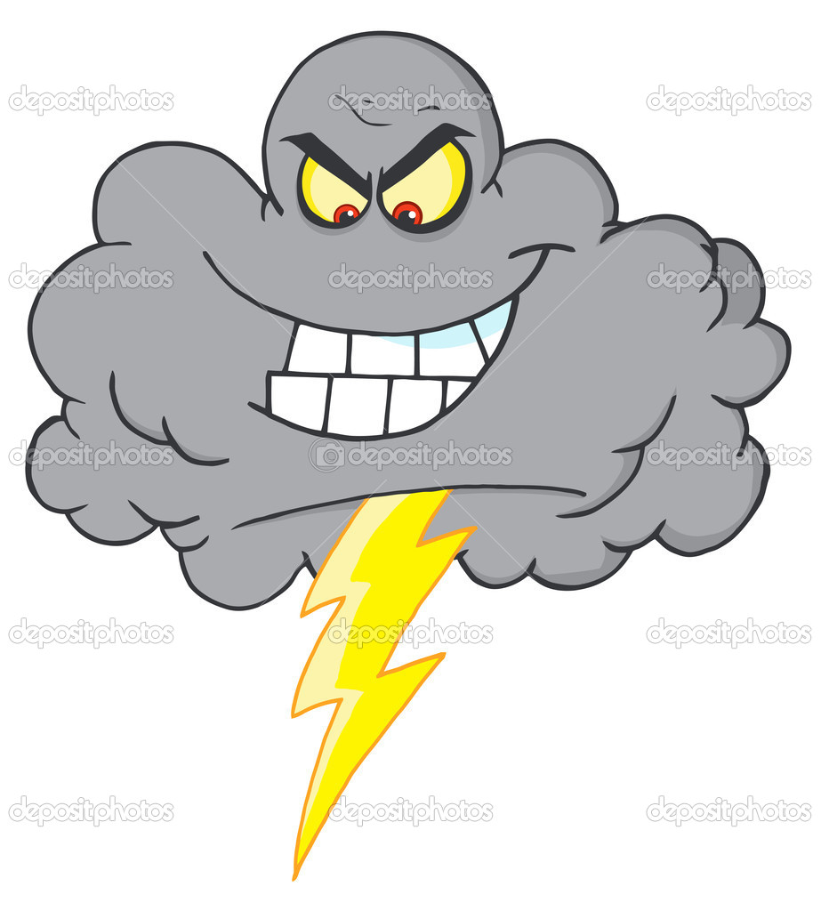 Cartoon Storm Images - Reverse Search Thunderbolt Clipart